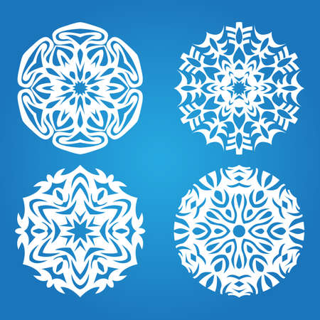 Abstract snowflake background.  Christmas decoration.