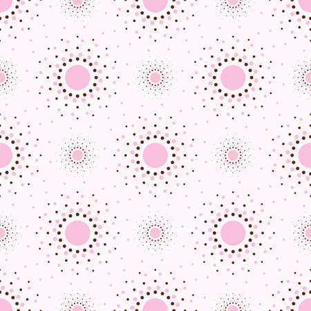 Abstract geometry pink background with circles