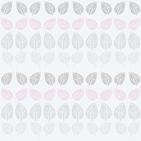 Abstract seamless pattern with leaves  Blue, pink, gray, white paper  Summer  background  Illustration