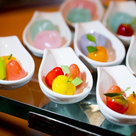 Appetizer of thai dessert on buffet line photo