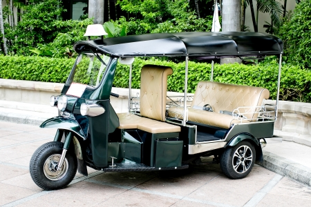 renamed: THAILAND - motorized three-wheelers  Samlaw   Tuk-Tuk  was renamed by the tourists because the engine sounds to be  Tuk-Tuk  Stock Photo