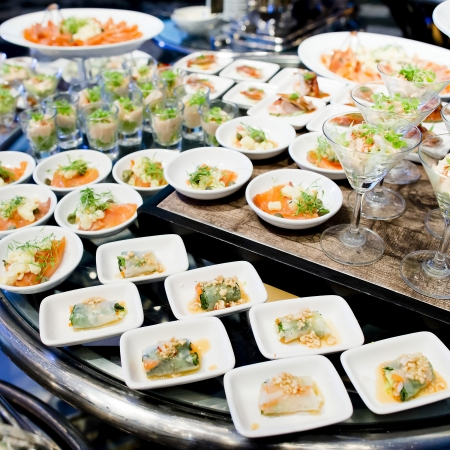 Appetizers and finger food-closeup Stockfoto