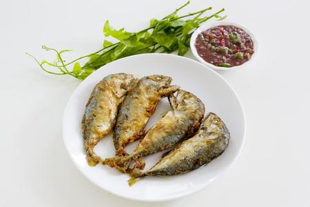 ka: Shrimp Paste Chilli Sauce  Nam Prik Ka Pi  serve with Fried Indian Mackerel, Thai Food