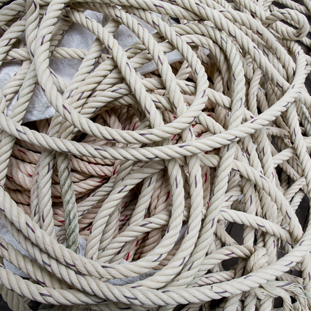coiled rope: Rope spiral background