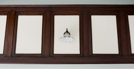 irradiate: Vintage wall lamp Stock Photo