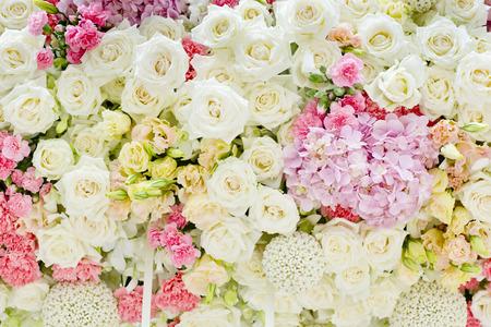 Abstracte achtergrond van bloemen. Dichtbij. Stockfoto