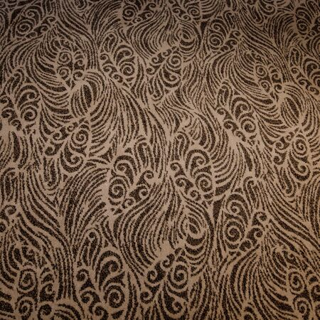 lineart: seamless floral pattern of line-art on brown background