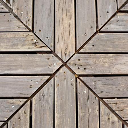 Creative Wooden planks desk background photo