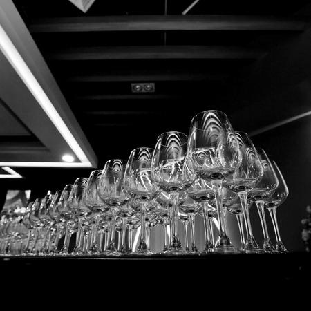 row: Row of wine glasses