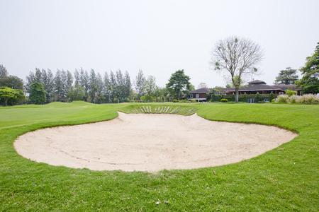 sandpit: A sandpit at a golf course