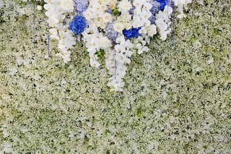 wedding backdrop: Luxury Indoors Wedding Backdrop Decorate by flowers
