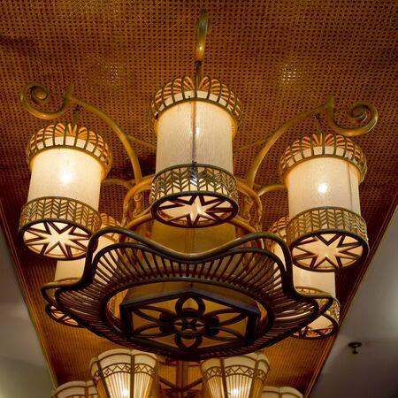 vintage chandelier: Vintage Lighting decor. Vintage chandelier Stock Photo