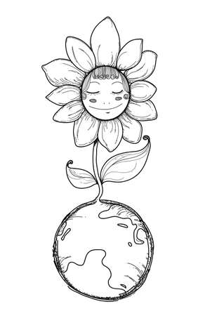 Flowes on Earth Illustration