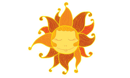 The sun Illustration
