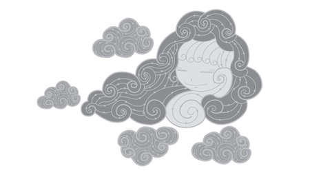 Abstract dark cloud  Vector