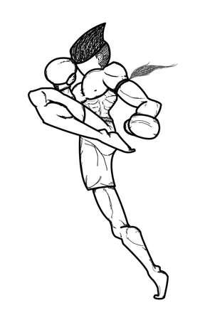 Muay Thai art martial