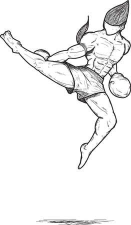 Muay thai : Jump roundhous Kick