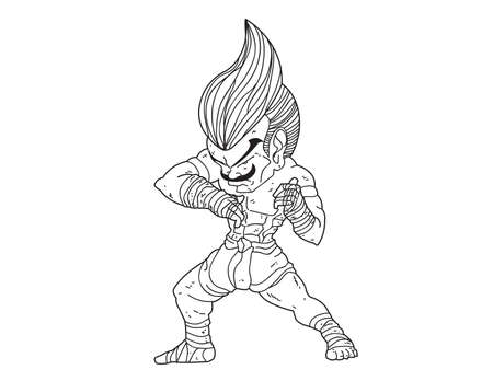 Muay Thai Boran : character cartoon 2 (Elbow Strike)