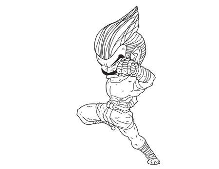 Muay Thai Boran : character cartoon 3 (Knee Strike)  Illustration