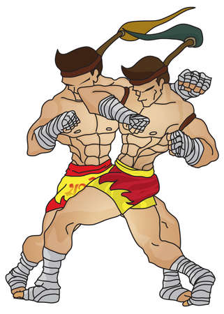 Muay Thai : Elbow Strike Technical Vector