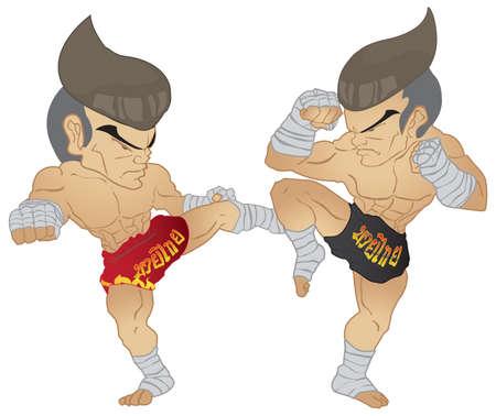 Muay Thai Coup de pied VS Une position gard�e