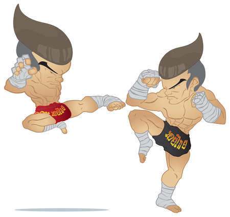 guarded: Muay Thai   Jump Kick VS A guarded stance