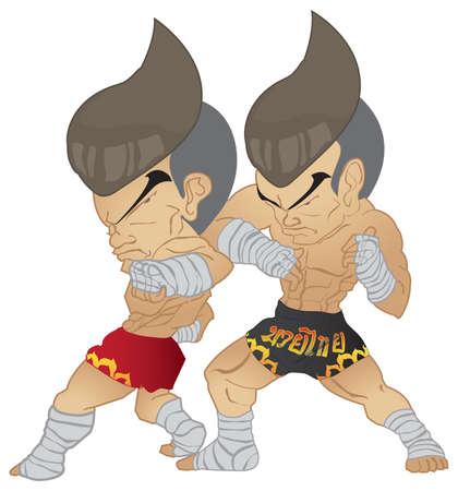 Muay Thai inverse coude VS Elbow gr�ve
