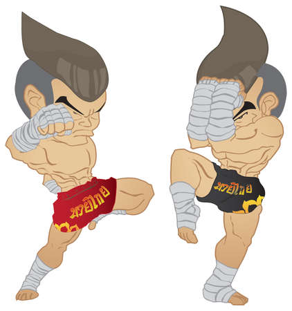 guarded: Muay thai Fighter  Knee Strike VS A guarded stance