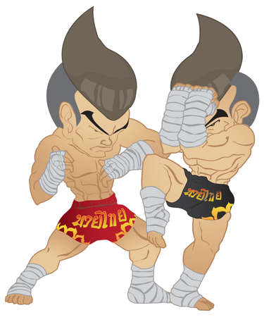 Muay thai Fighter  Elbow Strike VS A guarded stance