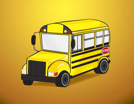 School bus in vector Stock Vector - 20913122
