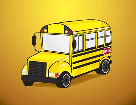 School bus in vector Stock Vector - 20913122