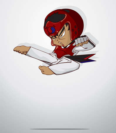 tae: taekwondo martial art Illustration
