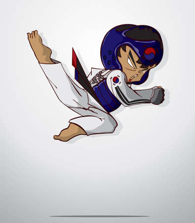 taekwondo martial art Illustration
