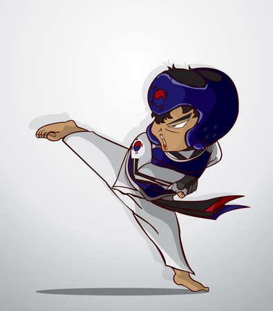 coup de pied: art martial du taekwondo