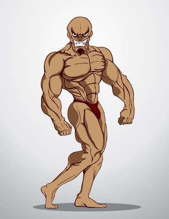 Bodybuilder Fitness Illustration Stock Vector - 21152041