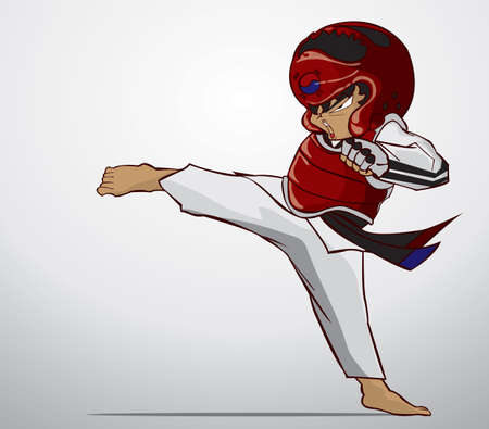defense: taekwondo martial art Illustration