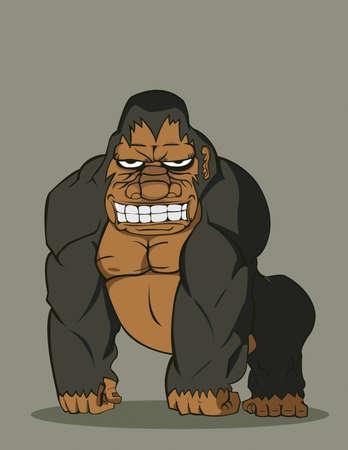 gorila: vector gorilla