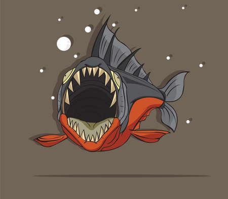 Piranha Fish Ilustração