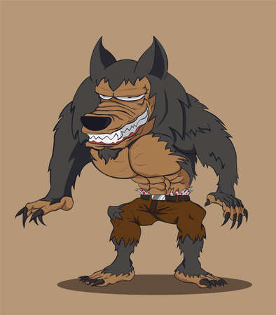 loup garou: Vector illustration loup-garou