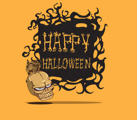 Cr�ne de monstre de Halloween Illustration