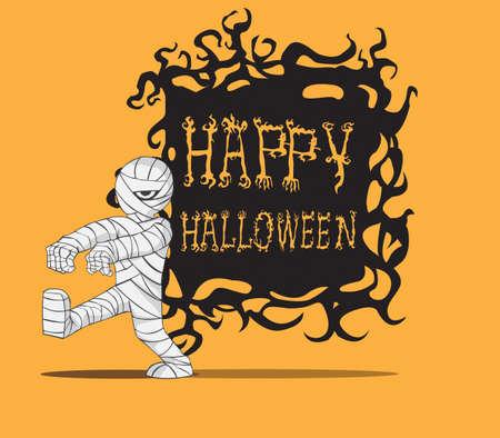 Monstre de Halloween de maman Illustration