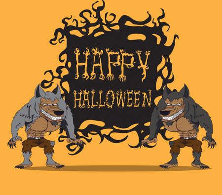 Werewolf  Halloween monster Illustration