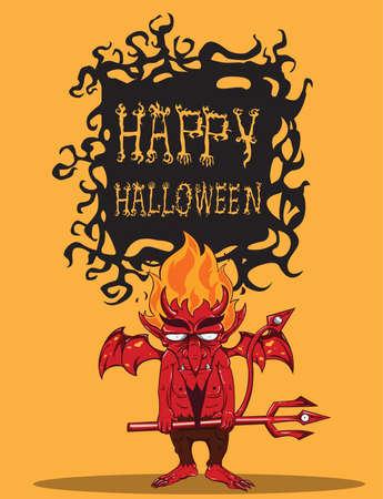 sneering: Red Devil  Halloween monster
