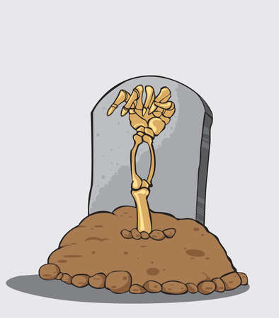 Hand coming out of grave Vector