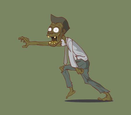 madman: Zombie monstruo de Halloween Vectores