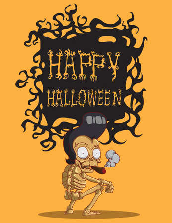 Death is a skeleton  Happy Halloween Vector