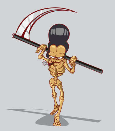 Death is a skeleton  Vector