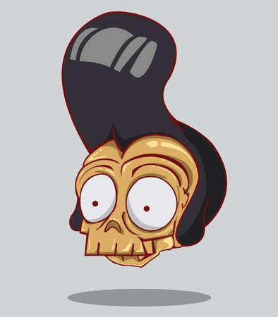 Skull head  halloween Vector