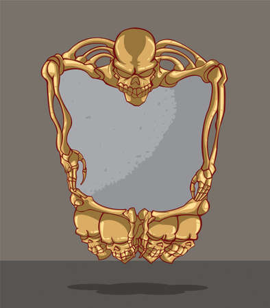 frame with skull Vector