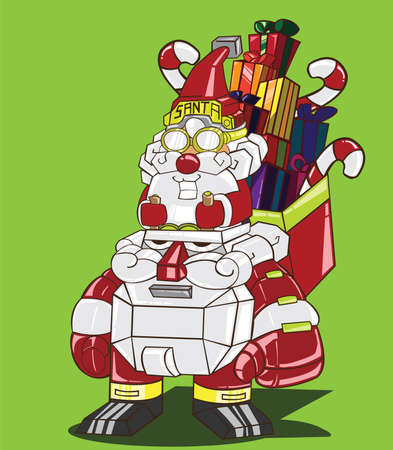 Santa Claus delivery the gifts Vector